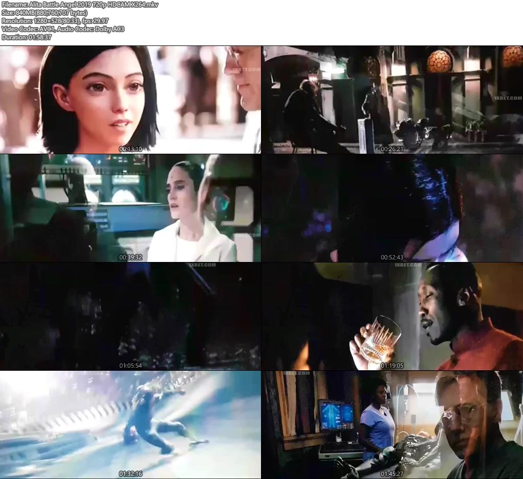 Alita Battle Angel 2019 720p HDCAM | 480p 300MB | 100MB HEVC Screenshot