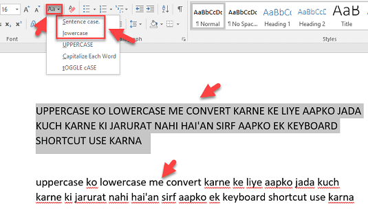 uppercase-to-lowercase-convert-in-word