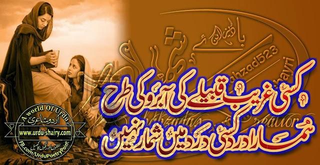 Kisi Ghareeb Qabeelay Ki Aabru Ki Trha...Sad shayari