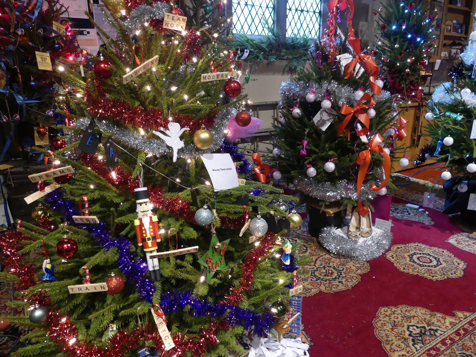 Elsewhere In The Church There Were Around 30 Decorated Real Christmas Trees.