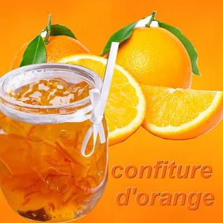 la recette confiture d'orange maison