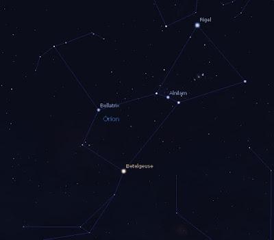 constelação de Orion