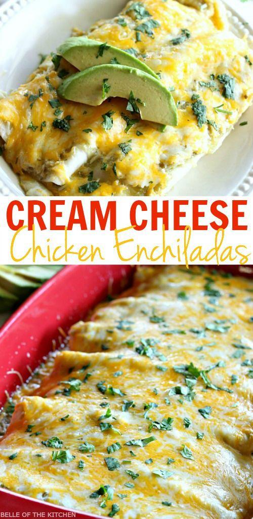Creamy Salsa Verde Chicken Enchiladas | GIRLS DISH