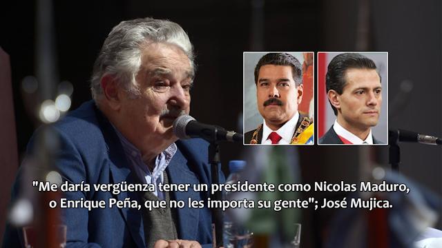 Me daría vergüenza tener un presidente como Peña al que no le importa su gente: Jose Mujica
