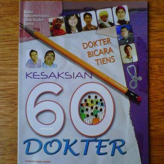 buku Dokter Bicara Tiens dan Kesaksian 60 Dokter
