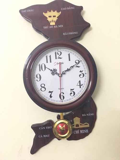 85k - Đồng hồ treo tường hình Bản đồ Việt Nam giá sỉ và lẻ rẻ nhất