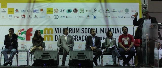 Haddad sanciona lei durante o primeiro dia do Fórum Social Mundial das Migrações