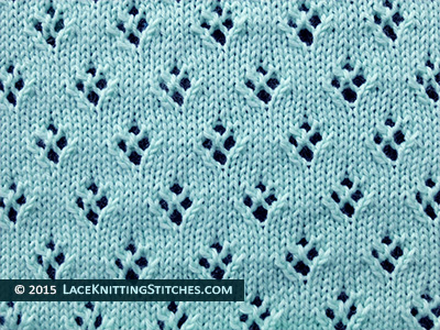 16 Quatrefoil Eyelet | Lace Knitting Stitches