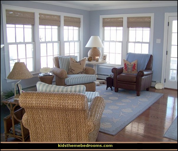 Seaside Cottage Living Room: Decorating Theme Bedrooms