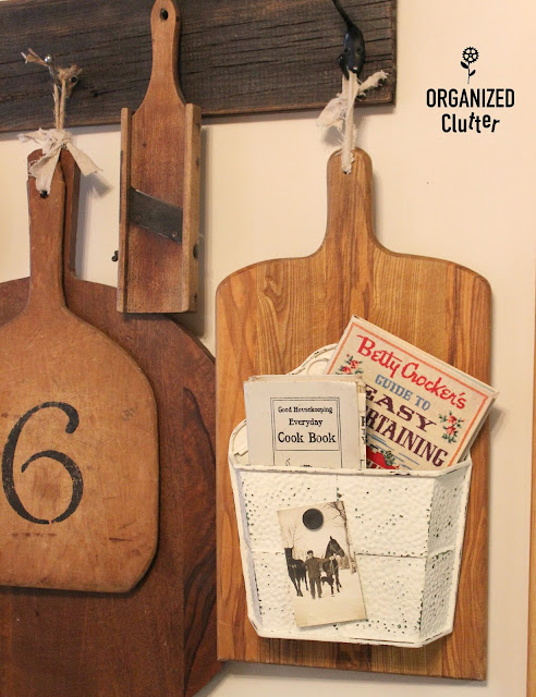Up-cycled Thrift Shop Cutting Board organizedclutter.net