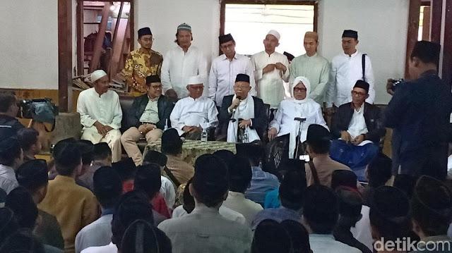 Kiai Sepuh Lirboyo Dukung KH Ma'ruf Amin Jadi Cawapres Jokowi
