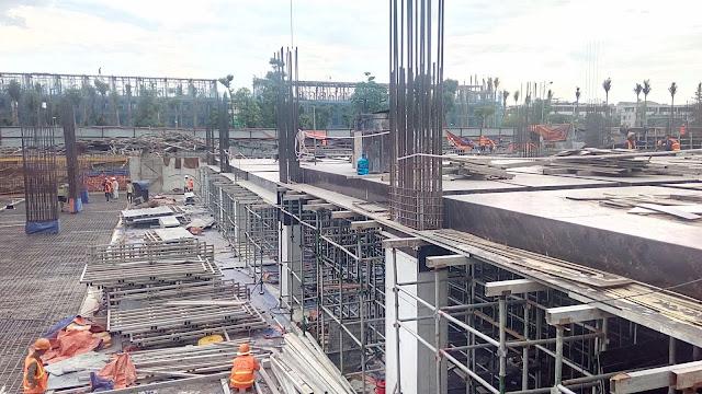 Xây dựng cốt thép tầng hầm của tòa K2