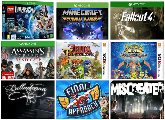 Collage of the Games on my wishlist currently