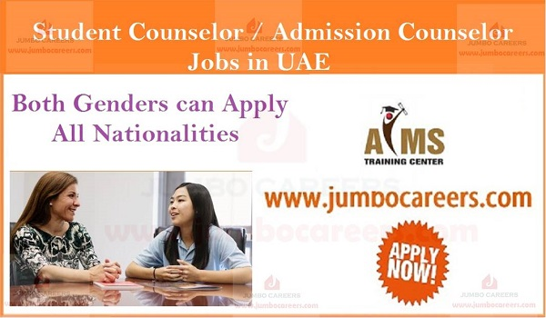 Urgent Counselors jobs in Abu Dhabi, AIMS training center Abu Dhabi jobs for counselors,