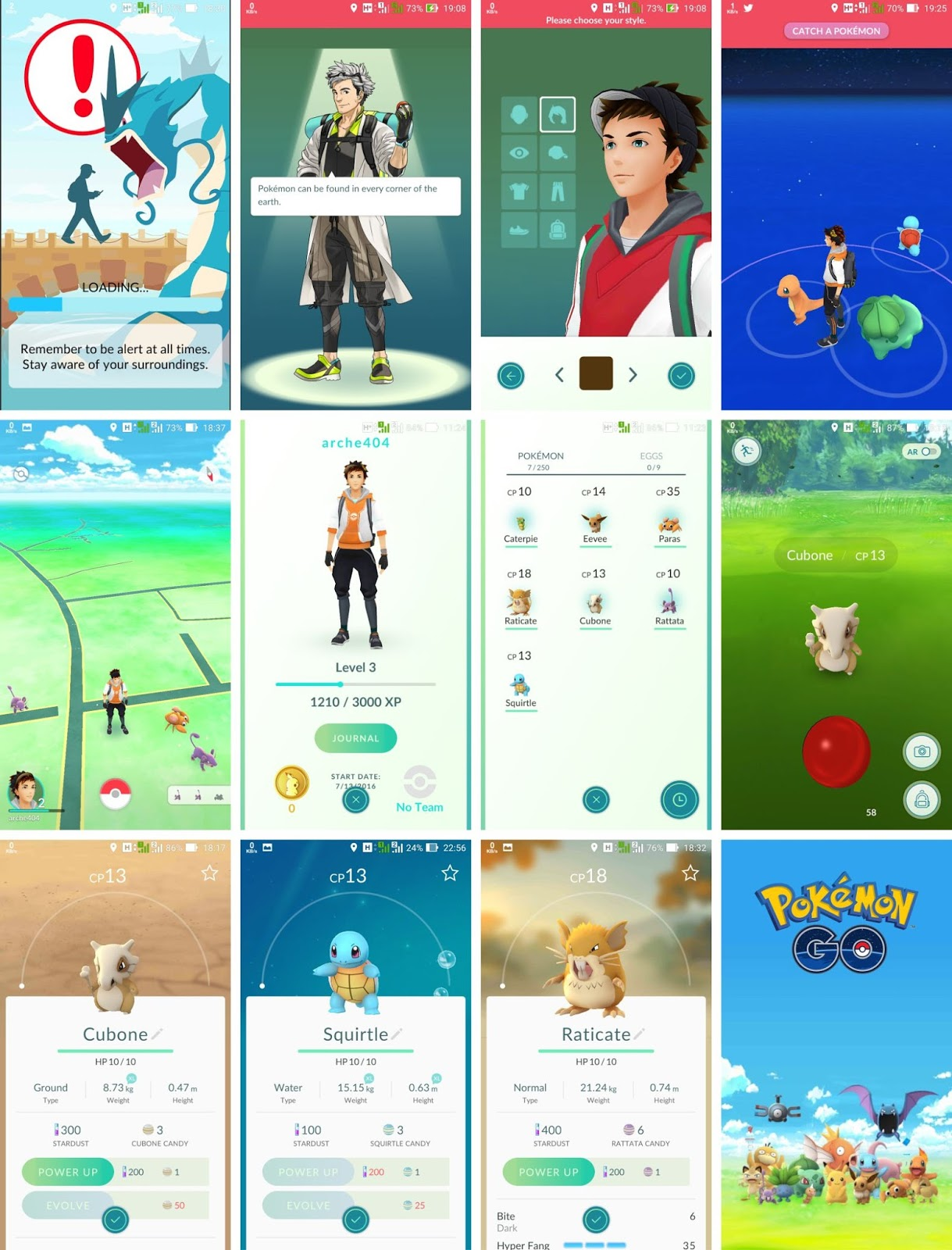 Cara Install Pokemon GO - Tampilan Muka Game Pokemon GO