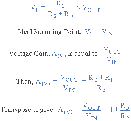 مضخم غير عاكس Non-inverting Amplifier