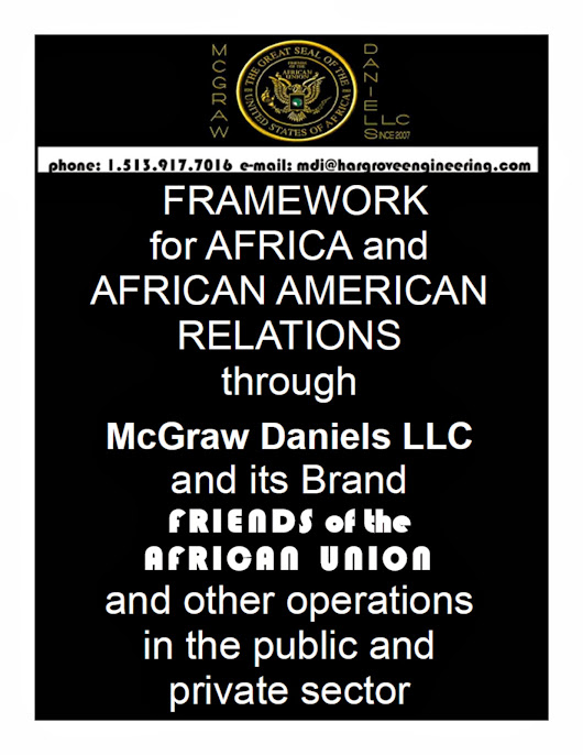 Hershel Daniels Junior, McGraw Daniels and Friends of the African Union world as of October 13th 2013.