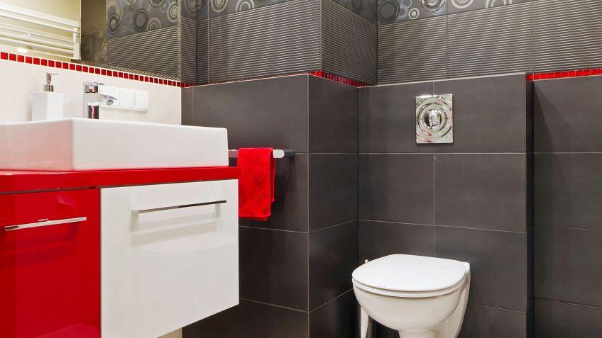 26 Fotos de casas de banho em vermelho  Decorao e Ideias