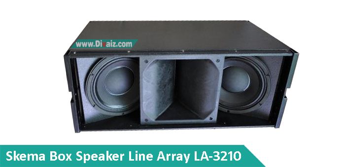 Skema Box Speaker Line Array 10 inch Double LA-3210 Middle Lantang