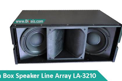 Skema Box Speaker Line Array 10 inch Double LA-3210 Middle Lantang