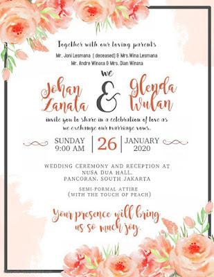 20 Ide Wedding Invitation Card Contoh Undangan Pernikahan Dalam Bahasa Inggris Beserta Artinya Schluman Art