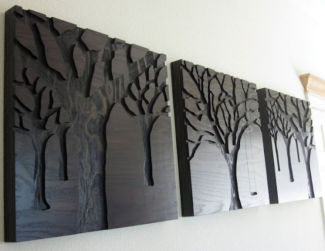 black wood wall decor