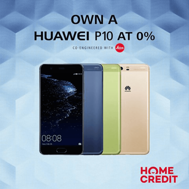 Huawei P10 Now Available Via Home Credit's 0% Program For 9 Months!