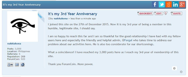3rd Year Anniversary in ForumCoin
