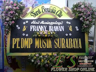 bunga papan duka cita Pt. DMP music surabaya