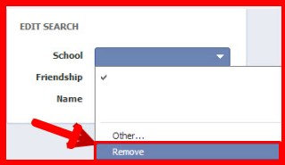 facebook search filter by school