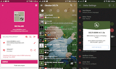 BBM Mod Delta Clone 3.2.5.12 Apk Changelog v4.1.0a