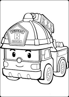 gambar sketsa robocar poli