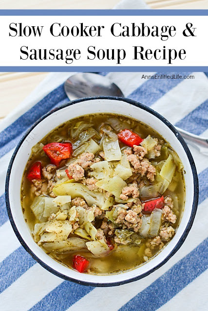 Slow cooker cabbage and sausage soup recipe