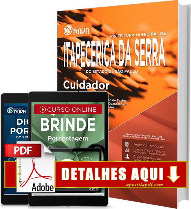Apostila Prefeitura de Itapecerica da Serra 2016 Cuidador Impressa