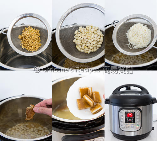 花生麥米粥製作圖 Pelted Wheat and Peanut Sweet Soup Procedures
