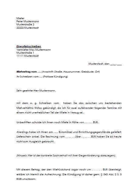 Vorlage kndigung mietvertrag  Dokument Blogs