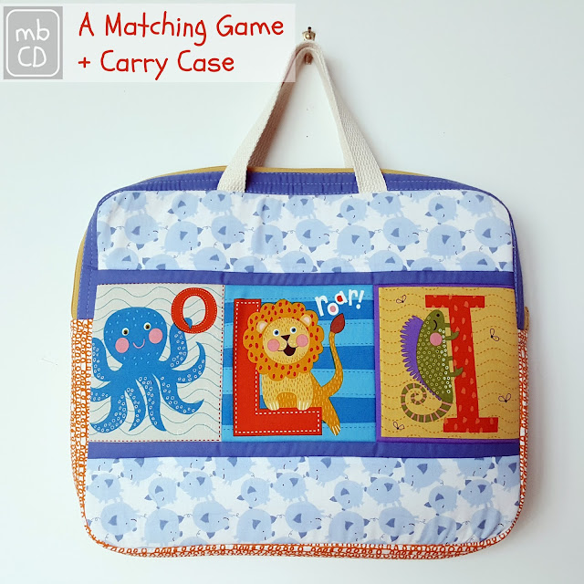 Matching Game + Carry Case by www.madebyChrissieD.com