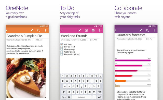Microsoft OneNote Note For Android