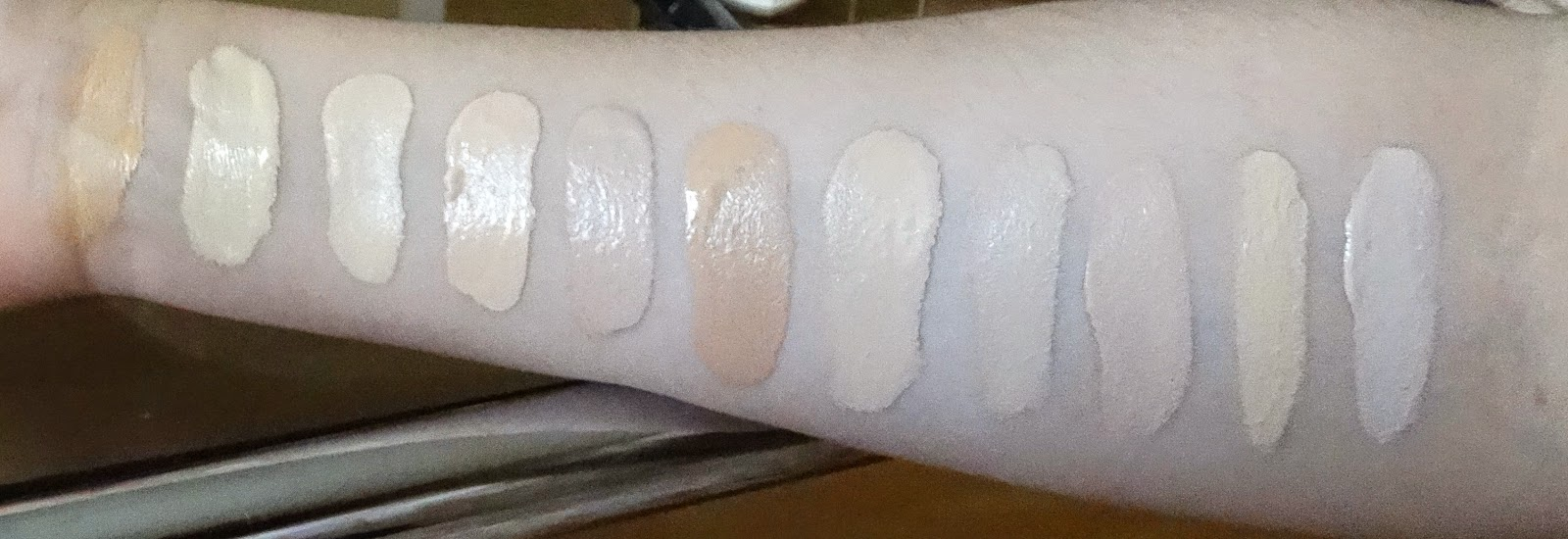 Pale foundation/BB cream/concealer swatches | Pale skin