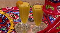اتفضلوا عندنا طريقة عمل عصير اناناس بكومبوت الخوخ مع غادة جميل
