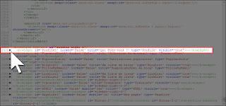 Repérer et développer les balises b:widget du gadget Profile