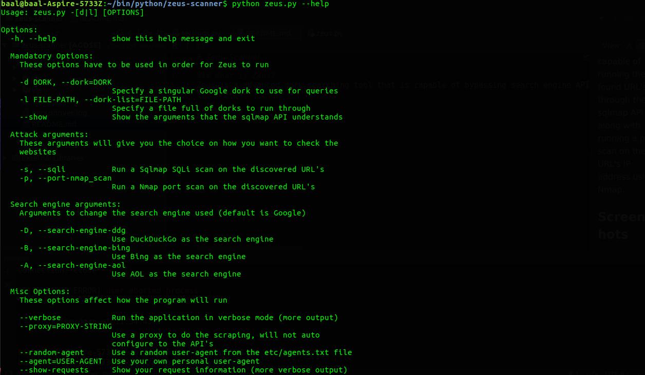 Zeus Scanner - Advanced Dork Searching Utility