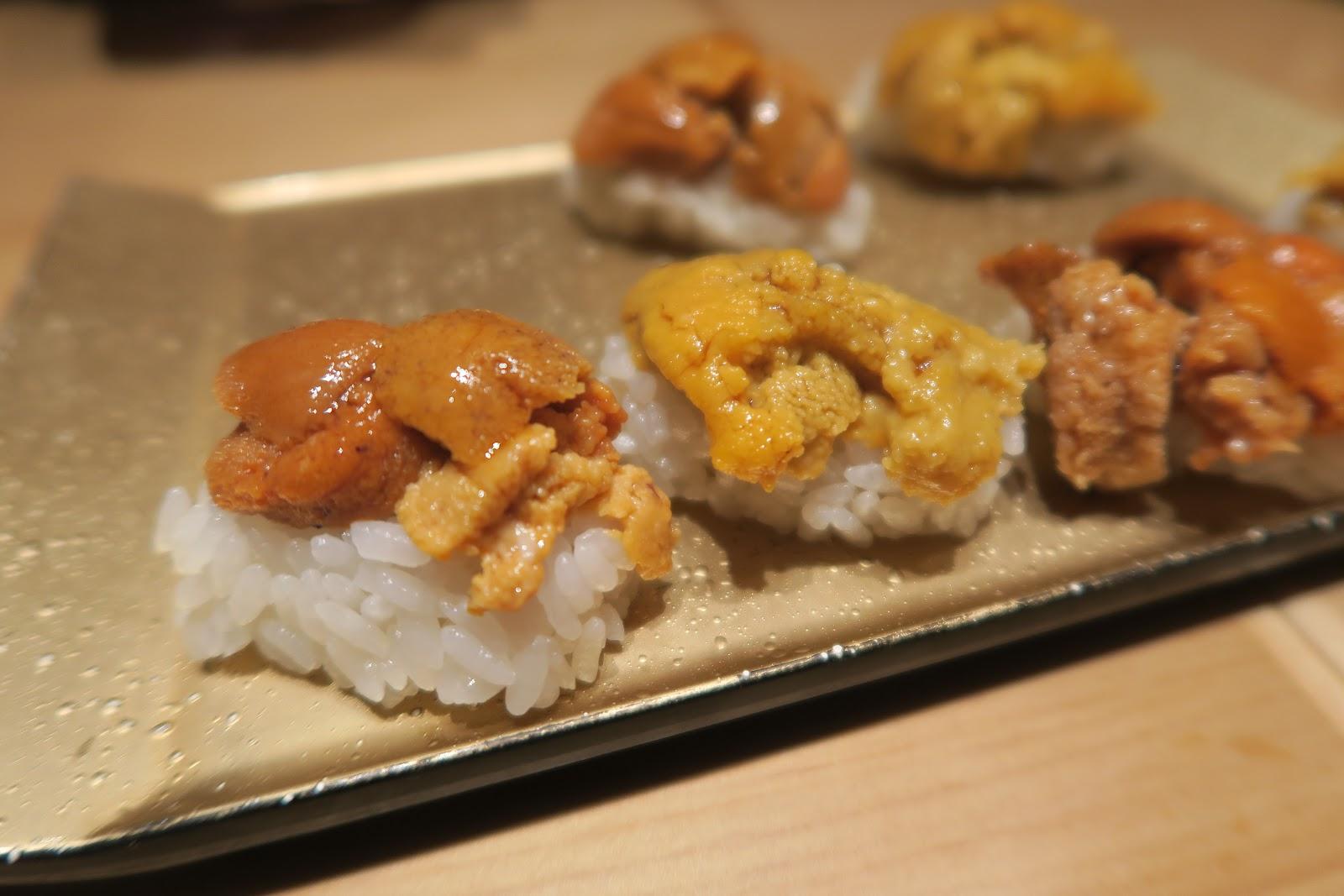 sea urchin omakase nigiri japanese tokyo ten sushi