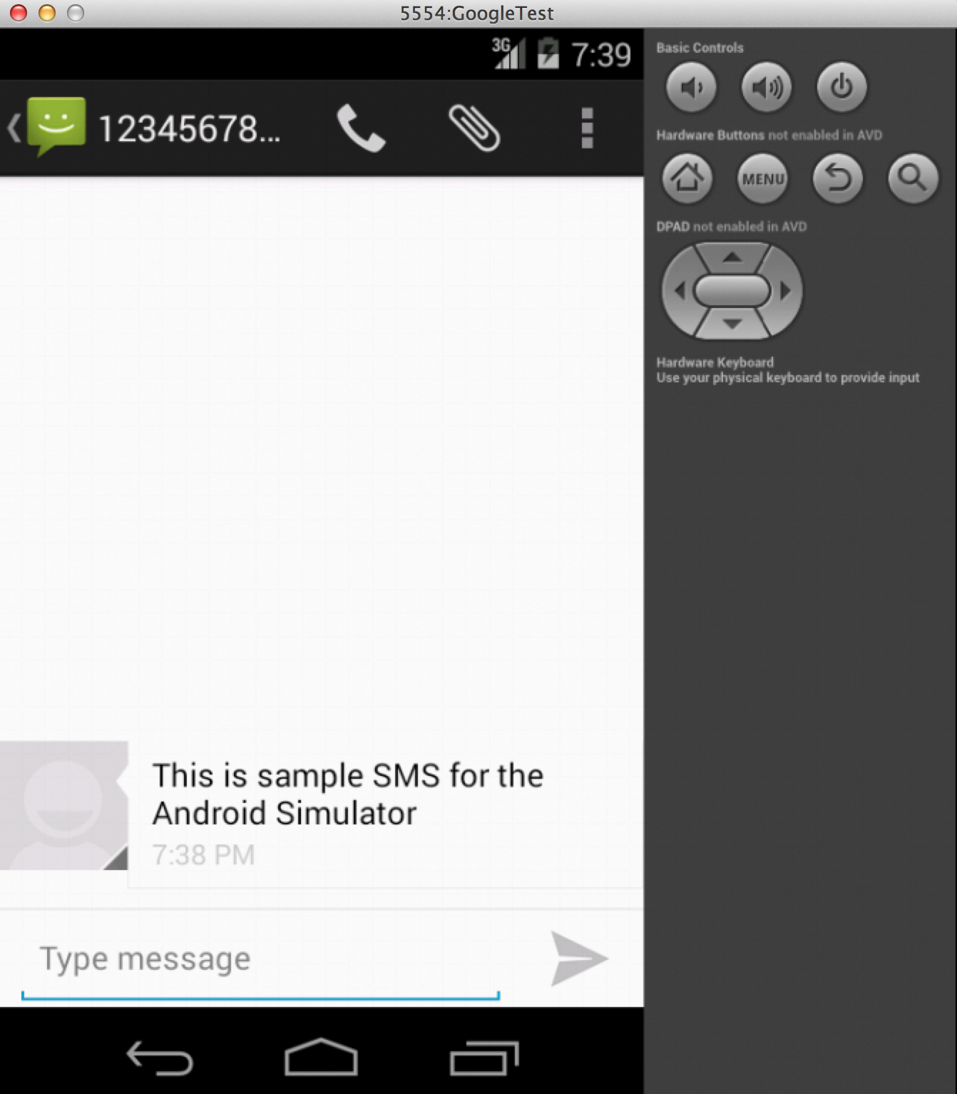 Sunil's Notes: Sending SMS to android simulator