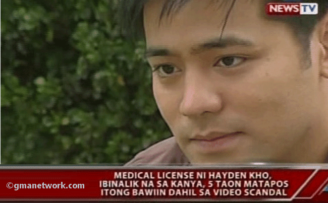 Trending News: Hayden Kho Got His Medical License Back