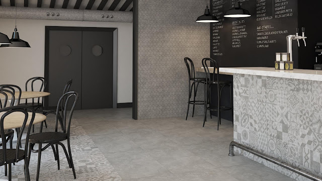 Home tiles design of Tanum series -  Industrial floor tile in large size