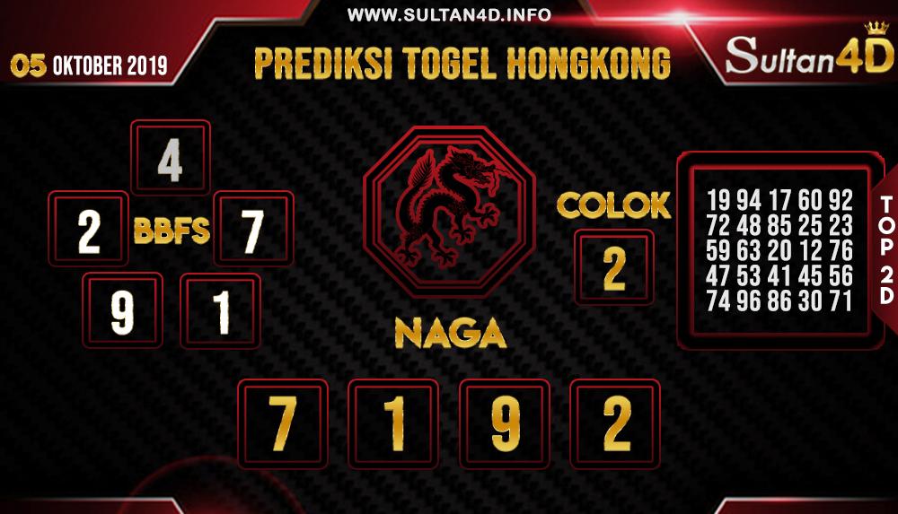 PREDIKSI TOGEL HONGKONG SULTAN4D 05 OKTOBER 2019