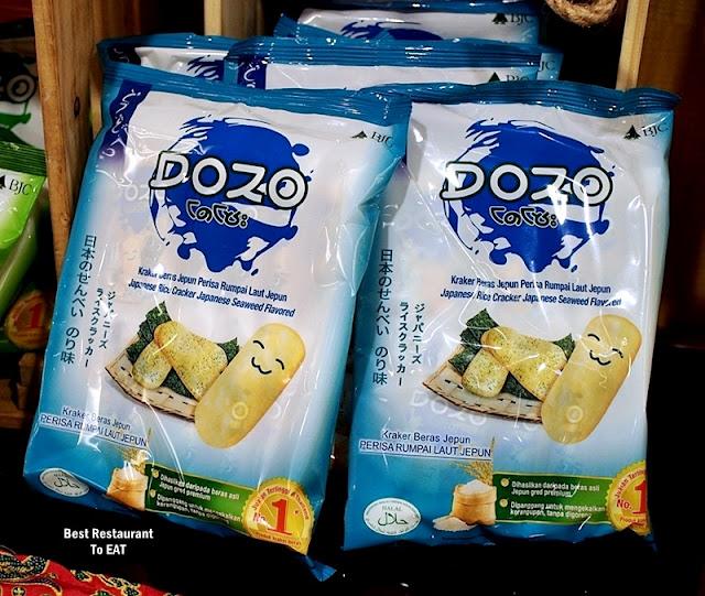 DOZO Japanese Rice Cracker - Japanese Seaweed Flavour - Perisa Rumpai Laut Jepun