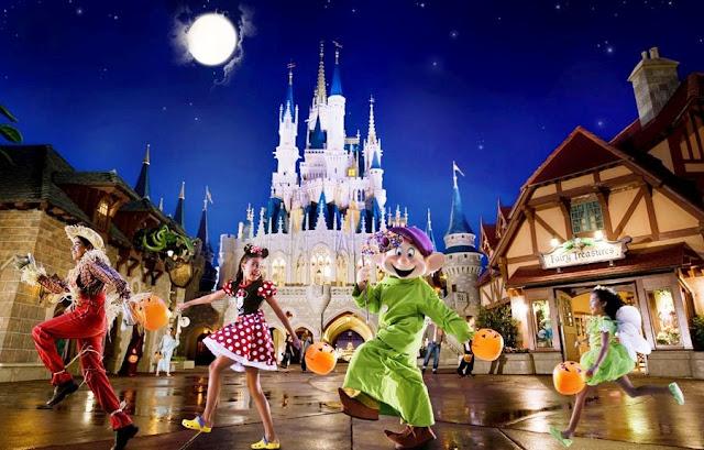 Informações da festa de Halloween no parque Disney Magic Kingdom