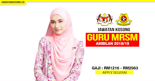 Permohonan Guru Mrsm 2019 2018 Dibuka Mobile